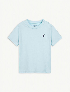 RALPH LAUREN Logo cotton T-shirt 3-24 months