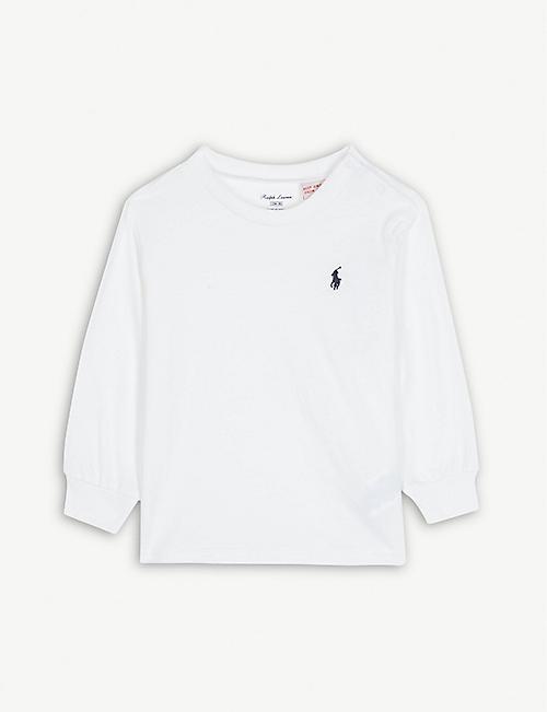 34644def9 RALPH LAUREN - Logo long-sleeved cotton T-shirt 3-24 months ...