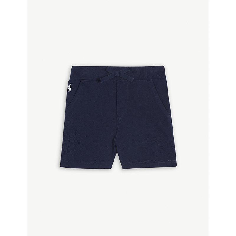 RALPH LAUREN   Logo Cotton Jersey Shorts 3-24 Months   Goxip