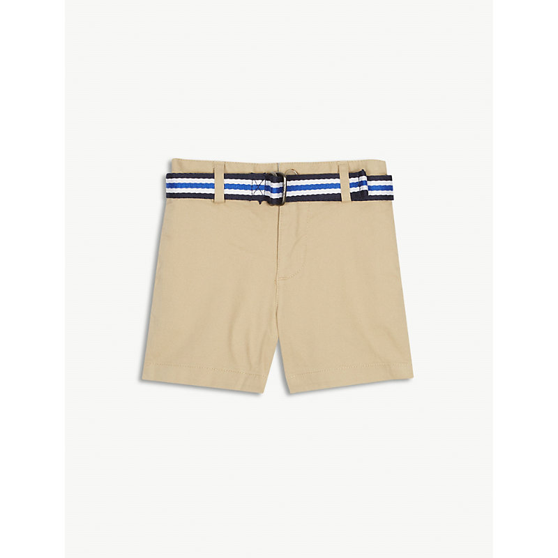 RALPH LAUREN   Belted Chino Shorts 3-24 Months   Goxip