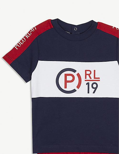 4e5a61bbe45c8 RALPH LAUREN Logo print T-shirt and shorts set 3-24 months