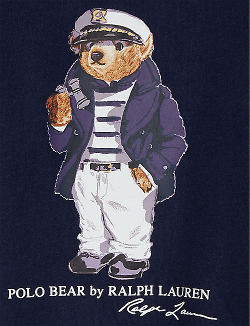 RALPH LAUREN Polo Bear cotton T-shirt 3-24 months
