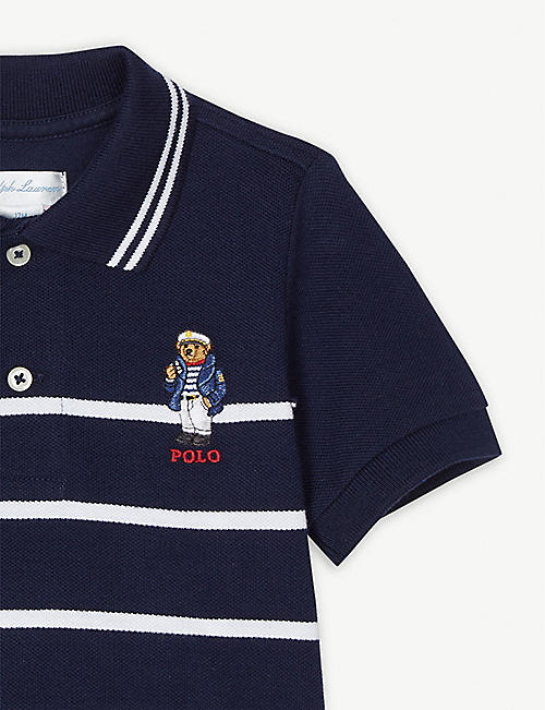 72a44e22b99bf RALPH LAUREN Striped Polo Bear polo shirt 3-24 months