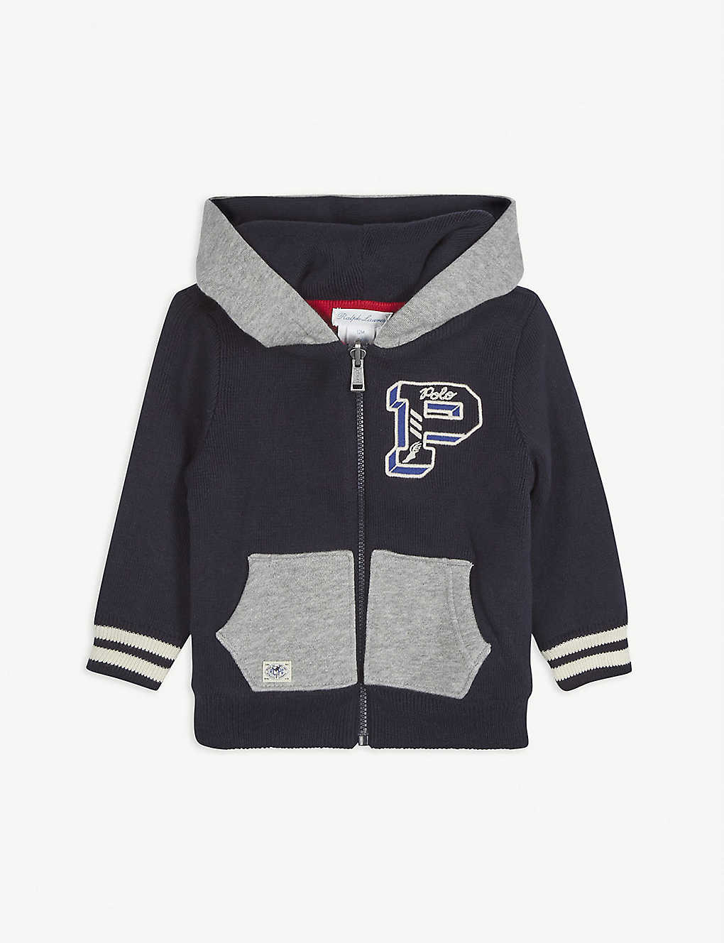 RALPH LAUREN: Reversible cotton hoody 3-18 months