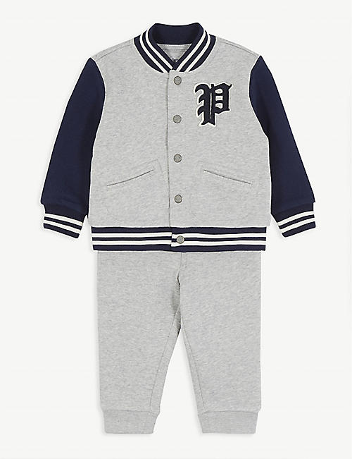 RALPH LAUREN Ski Bear cotton jacket and jogging bottoms set 6-24 months