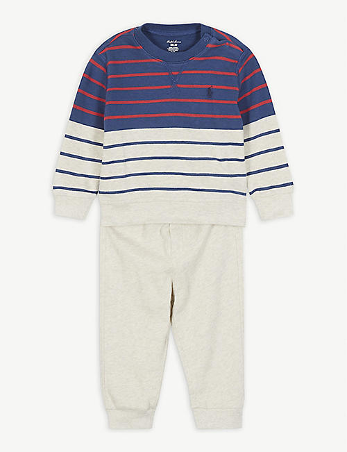 RALPH LAUREN Jumper and jogging bottoms cotton set 3-24 months