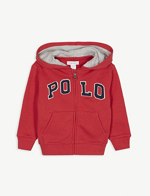RALPH LAUREN Polo cotton-blend hoody 3-24 months
