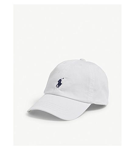 71ba3c87928 ... RALPH LAUREN Embroidered-logo cotton chino baseball cap (White.  PreviousNext
