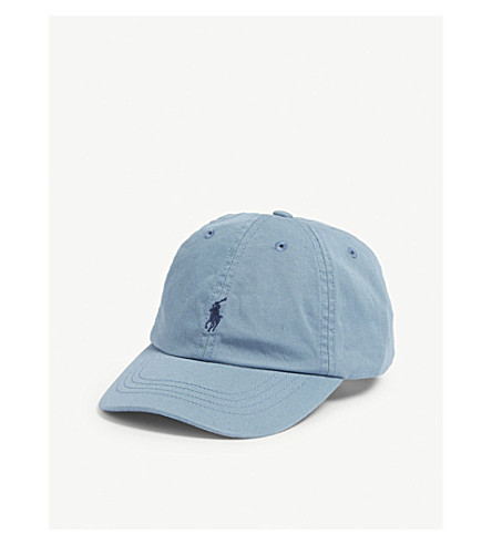 ... RALPH LAUREN Embroidered-logo cotton chino baseball cap (Cassidy+blue.  PreviousNext 86ad0846544
