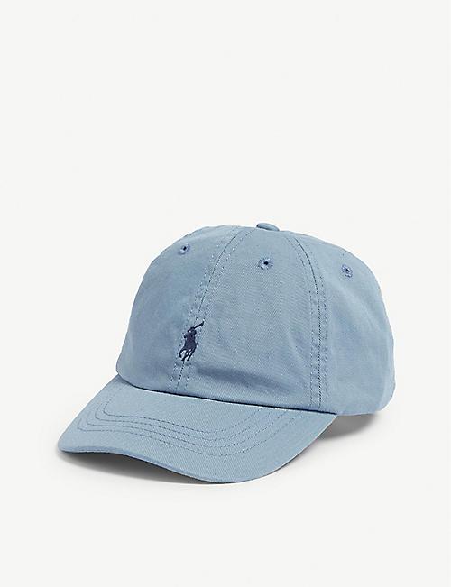534dfba0c0aea RALPH LAUREN Embroidered-logo cotton chino baseball cap