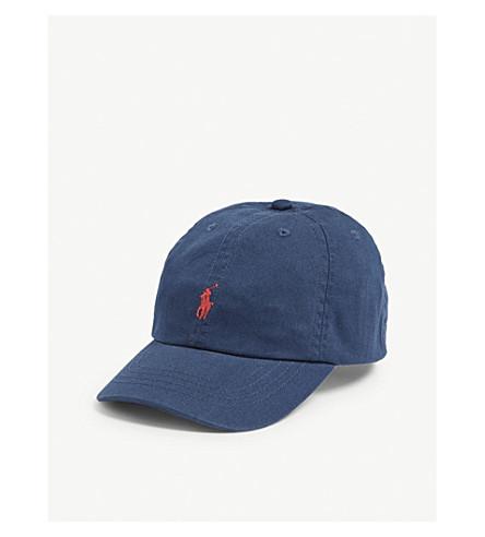 ... RALPH LAUREN Embroidered-logo cotton chino baseball cap (Clancy+blue.  PreviousNext 333fb554b40