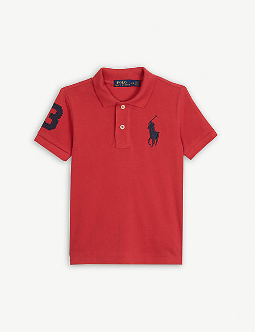 d1232c6d RALPH LAUREN Embroidered-logo cotton mesh polo shirt 2-7 years