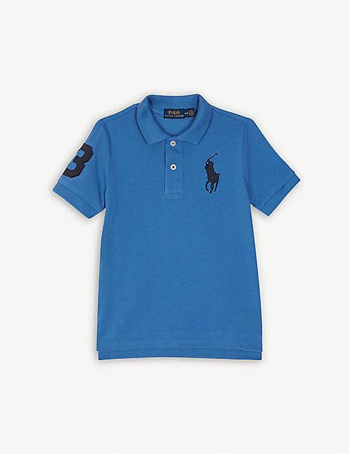 c30ddca43 RALPH LAUREN Embroidered-logo cotton mesh polo shirt 2-7 years