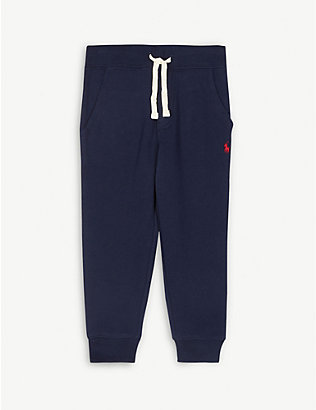 RALPH LAUREN: Cotton-fleece jogging bottoms 2-14 years