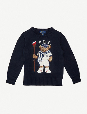 RALPH LAUREN Baseball bear cotton jumper