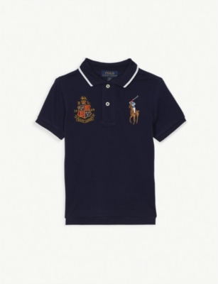 RALPH LAUREN Crest pony logo cotton polo shirt 2-4 years