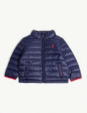 RALPH LAUREN Logo-embroidered quilted down gilet 2-5 years