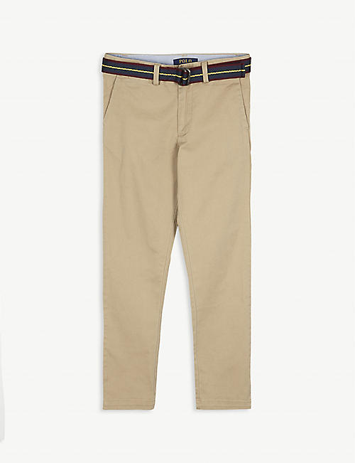 RALPH LAUREN: Cotton-blend chino trousers 2-18 years