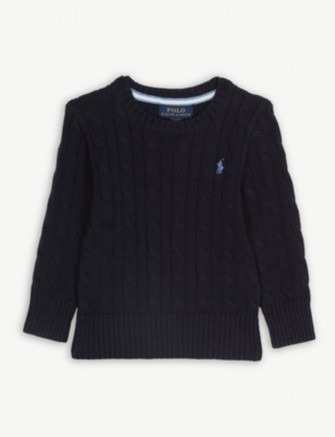RALPH LAUREN Cotton cable-knit jumper 2-7 years