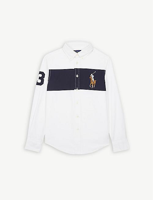 RALPH LAUREN Embroidered logo cotton-blend Oxford shirt 2-14 years 0789b25ced321