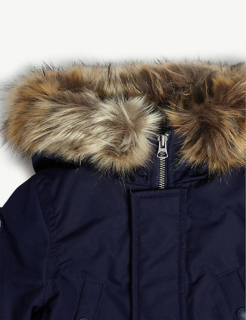 RALPH LAUREN Faux fur hood padded parka jacket 2-7 years