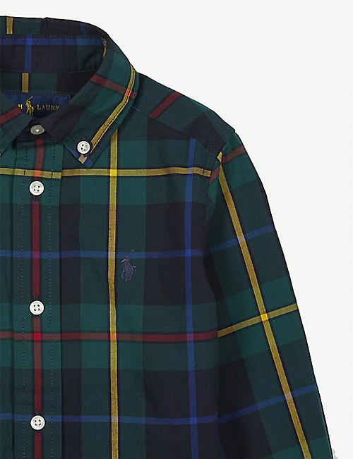 RALPH LAUREN Logo cotton check shirt 2-16 years