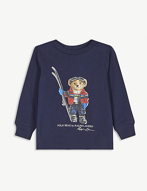 RALPH LAUREN Skiing polo bear cotton top 2-16 years