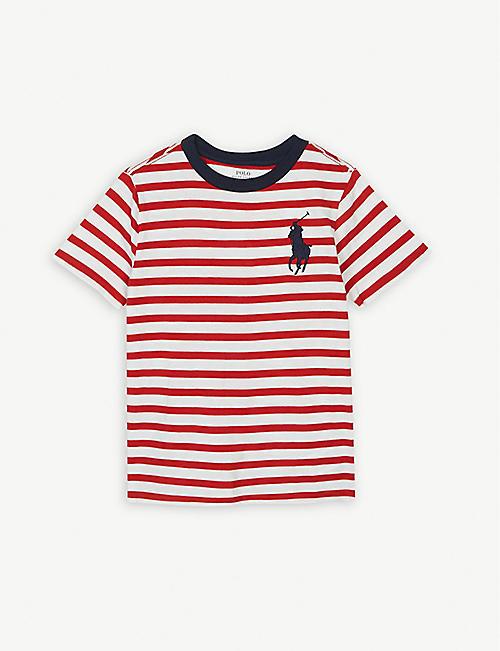 075a853b9f3 RALPH LAUREN Logo striped cotton T-shirt 6-7 years