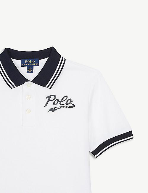 5edbda413 RALPH LAUREN Striped trim cotton polo shirt 6-7 years