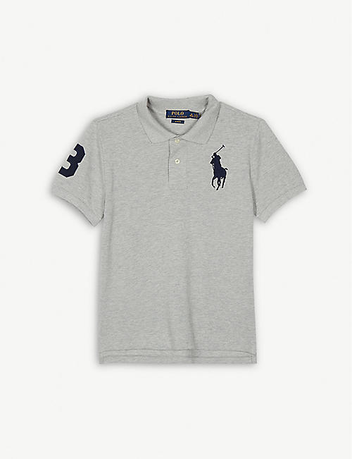 RALPH LAUREN Logo no.3 cotton polo shirt 6-14 years