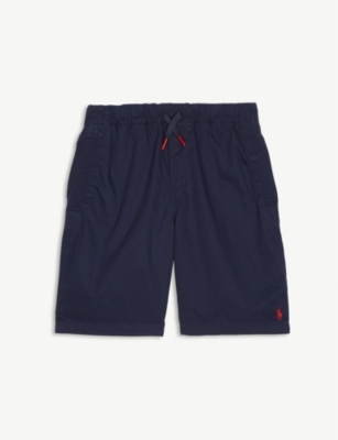 RALPH LAUREN Polo drawstring cotton shorts 6-14 years
