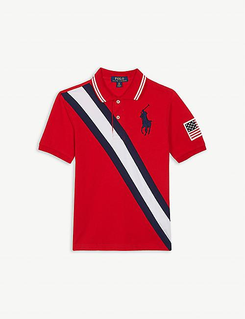 702465256 RALPH LAUREN Stripe cotton polo shirt 7-14 years
