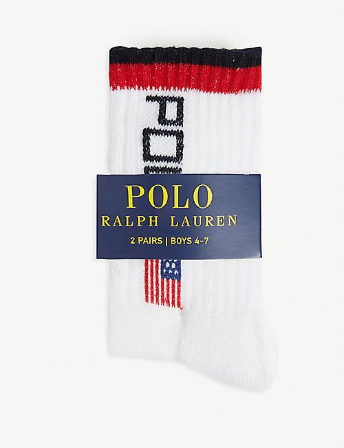 RALPH LAUREN Polo athletic cotton crew socks set of two