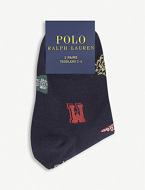 RALPH LAUREN College cotton socks pack of two