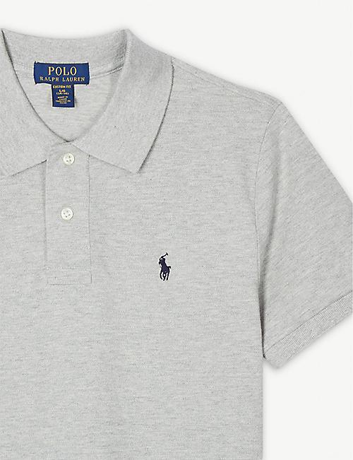 9661f4fff7f RALPH LAUREN Logo custom fit cotton polo shirt 4-14 years