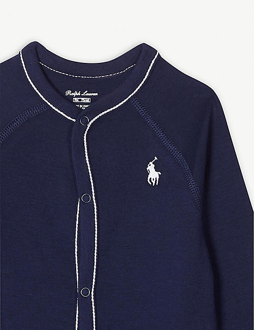 RALPH LAUREN Embroidered logo cotton bodysuit 0-9 months