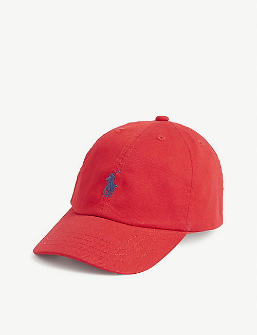 RALPH LAUREN: Kids logo-print cotton baseball cap