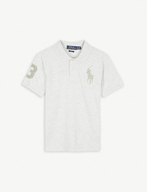 RALPH LAUREN Number logo cotton polo shirt 4-14 years