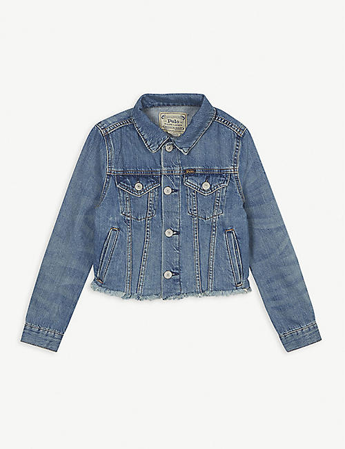 RALPH LAUREN: Logo print denim jacket 7-12 years