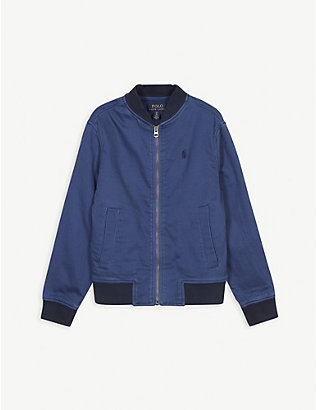 RALPH LAUREN: Logo cotton bomber jacket 2-14 years