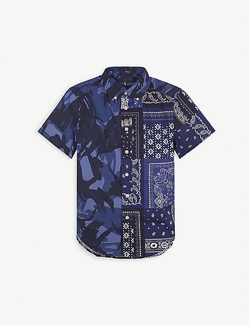 RALPH LAUREN: Bandana print cotton short-sleeved shirt 7-11 years