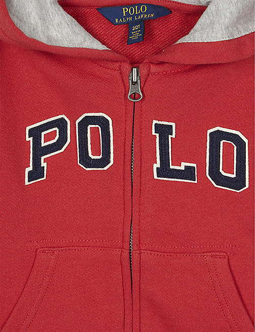 RALPH LAUREN Zip-up cotton hoody 2-16 years