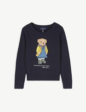 RALPH LAUREN Polo bear cotton sweatshirt 2-14 years