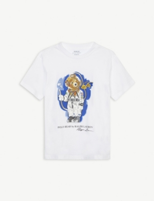 RALPH LAUREN Diving polo bear cotton T-shirt