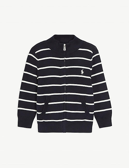 RALPH LAUREN Cotton zip-up jumper 2-16 years