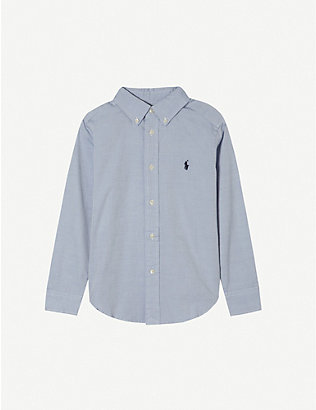 RALPH LAUREN: Custom fit long-sleeve shirt 2-16 years