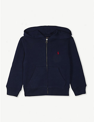RALPH LAUREN: Zip-up cotton-blend hoody 2-7 years