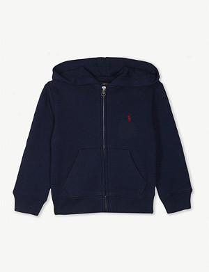 RALPH LAUREN Zip-up cotton-blend hoody 6-14 years