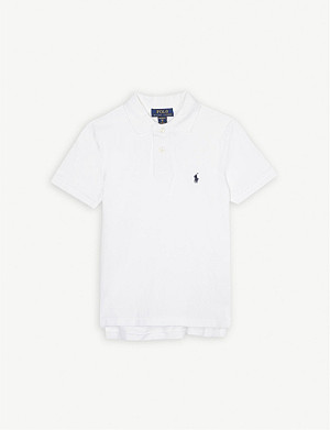 RALPH LAUREN Pony custom fit cotton polo shirt 6-14 years