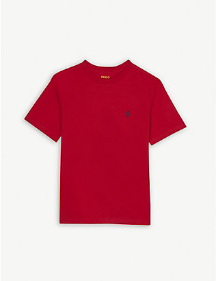 RALPH LAUREN: Logo-print cotton T-shirt 7-14 years